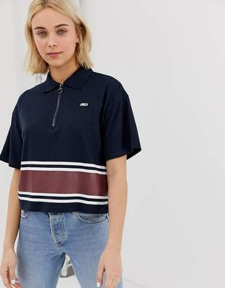Juicy Couture Juicy By cropped polo shirt with exposed zip
