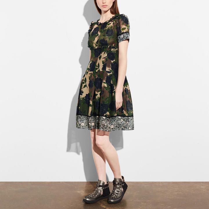 Coach   COACH Coach Mixed Print Dress