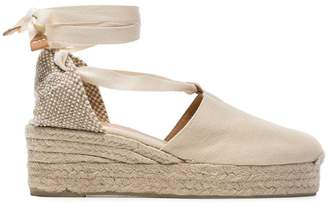 Castaner cream Campesina 30 canvas platform wedges