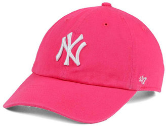 '47 Brand Women's New York Yankees Pink/White Clean Up Cap $27.99 thestylecure.com