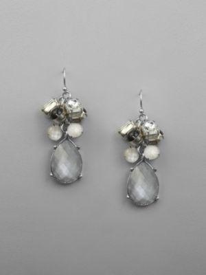 New York & Co. Dangling Sparkle Cluster Earrings