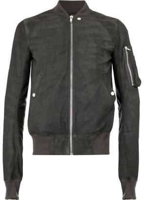 Rick Owens suede bomber jacket