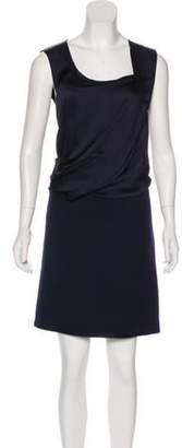 Bottega Veneta Sleeveless Mini Dress Blue Sleeveless Mini Dress