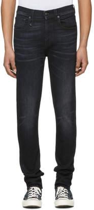 R 13 Black Skate Jeans