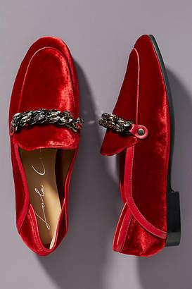 Lola Cruz Velvet Menswear Loafers