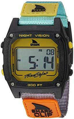 Freestyle (フリースタイル) - [フリースタイル]Freestyle 腕時計 SHARK クリップ デジタル 100m防水 ナイロンベルト トロピカル×ブラック 10026749 【正規輸入品】
