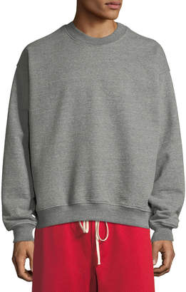 Fear Of God Men's Long-Sleeve Heathered Terry Crewneck Pullover