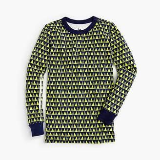 J.Crew Kids' pajama set in yellow triangles