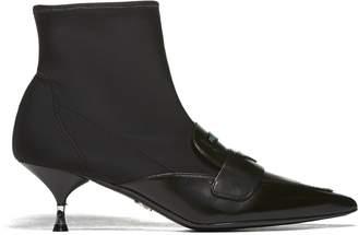 Prada Kitten Heels Ankle Boots