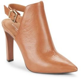 Whiley Slingback Leather Booties $170 thestylecure.com