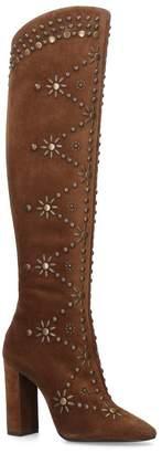 Saint Laurent Studded Ella Knee-High Boots 105
