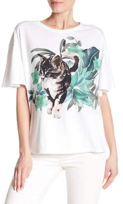 Paul & Joe Sister Coconut Short Sleeve Graphic Print Tee