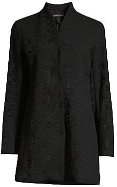 Eileen Fisher Women's Textured High-Collar Jacket