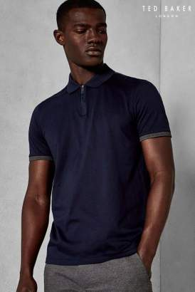Next Mens Ted Baker Snika Zip Neck Polo