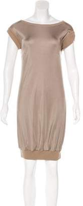 Les Copains Satin Knee-Length Dress