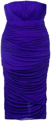 Tom Ford ruched bandeau dress