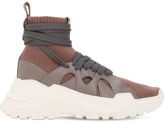 ee3898dcd6bea Agnona 40mm Cashmere & Leather Sneakers