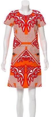 Derek Lam Abstract Print Mini Dress
