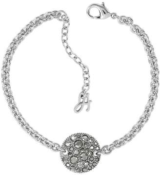 Adore Metallic Pave Disc Bracelet Created With Swarovski Crystals
