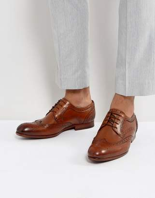 Ted Baker Granet Leather Brogue Shoes In Tan