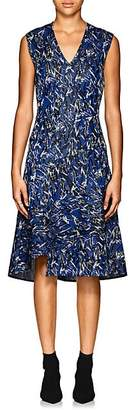Derek Lam Women's Abstract Cotton-Blend Jacquard A-Line Dress - Peacock