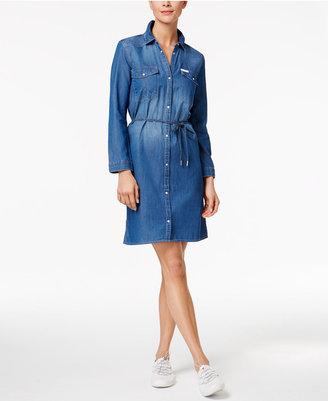 Calvin Klein Jeans Cotton Denim Shirtdress $79.50 thestylecure.com