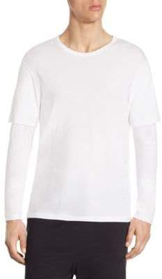 Vince Regular-Fit Double Layer Sleeve Tee