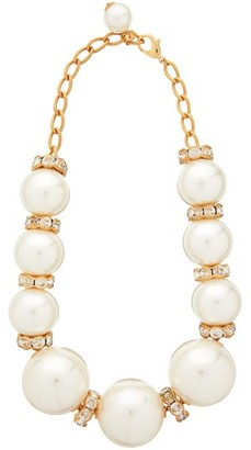 Dolce & Gabbana Faux Pearl Embellished Necklace - Womens - Pearl