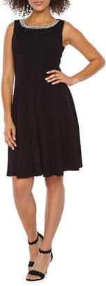 Studio 1 Sleeveless Embellished Fit & Flare Dress