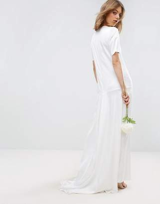 Asos Design EDITION fishtail maxi wedding dress
