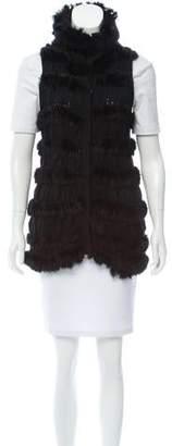 Diane von Furstenberg Alcina Fur-Trimmed Vest