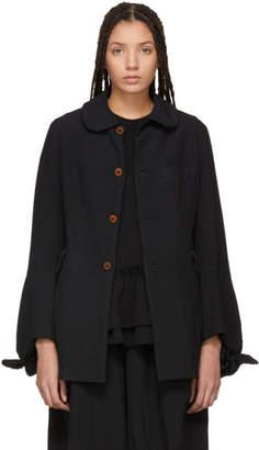 Comme des Garcons Black Round Collar Jacket