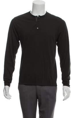 Lanvin Knit Henley Sweater grey Knit Henley Sweater