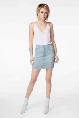 J Brand Lyla Mini Skirt In Sky