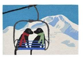 Liora Manné Frontporch Ski Lift Love Indoor and Outdoor Rug