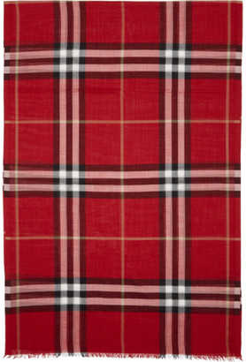 Burberry Red Giant Check Scarf