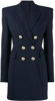 Balmain blazer effect zipped short dress