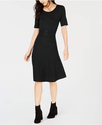 Maison Jules Belted Midi Dress, Created for Macy's