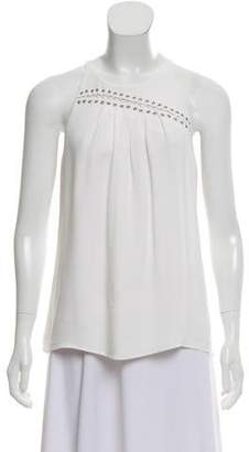Ramy Brook Lace- Accented Sleeveless Top