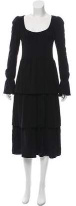 Tom Ford Fleece Wool Midi Dress