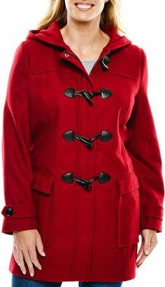 LIZ CLAIBORNE Liz Claiborne Wool-Blend Toggle Coat - Tall $240 thestylecure.com