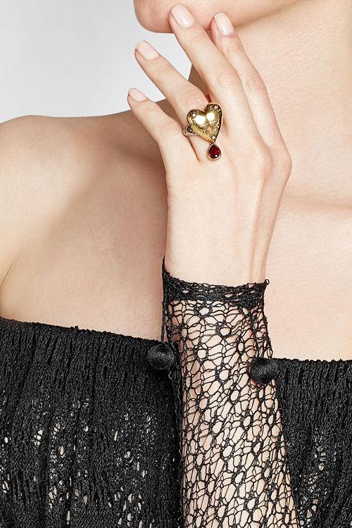 Alexander McQueenAlexander McQueen Embellished Ring