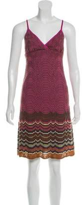 Missoni Merino Wool Knee-Length Dress fuchsia Merino Wool Knee-Length Dress