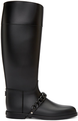 Givenchy Black Rubber Rain Boots $450 thestylecure.com