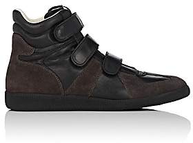 Maison Margiela Men's Suede & Leather Triple-Strap Sneakers - Black