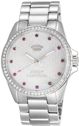 Juicy Couture Stella Women's Quartz Watch with Mother of Pearl Dial Analogue Display and Silver Stainless Steel Bracelet 1901008 $125 thestylecure.com