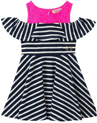 Juicy Couture Lace Yoke Striped Dress