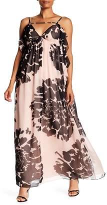 Trina Turk Classified Floral Print Maxi Dress