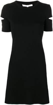 Helmut Lang cut-out ribbed dress
