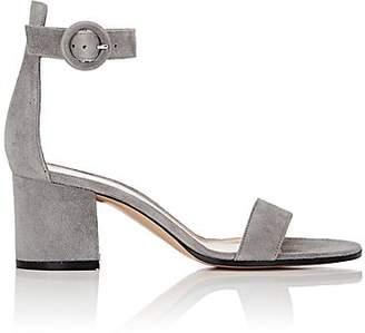 Gianvito Rossi Women's Versalia Suede Ankle-Strap Sandals - Fumo